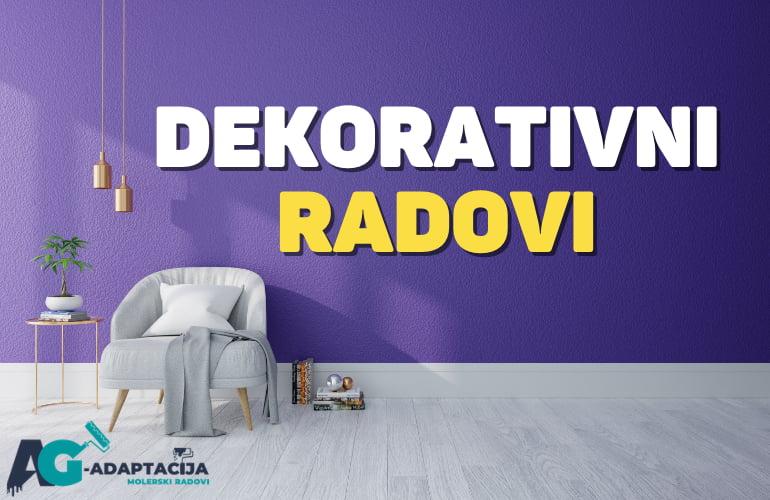 Dekorativni radovi - Dekoracija zida Beograd