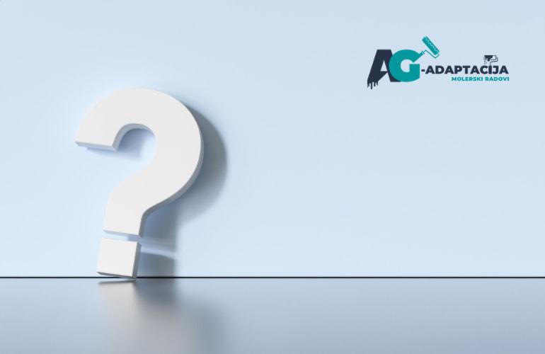 Najčešća pitanja i odgovori - Molerski radovi FAQ